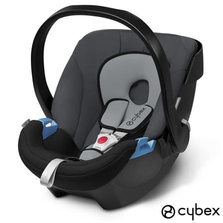 Bebe Conforto Aton Preto e Cinza + Base de Seguranca 2-Fix para Bebe Conforto Aton Preta - Cybex, 1