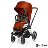 Carrinho de Bebe Priam Trekking com Lux Seat Vermelho Ferrugem - Cybex
