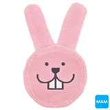 Luva para Limpeza Bucal Mam Oral Care Rabbit Rosa