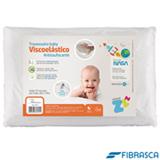 Travesseiro Infantil Nasa Anti Sufocante Viscoelástico  Branco - Fibrasca