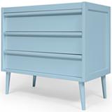 Comoda Lina com 03 Gavetas Azul - FS Design