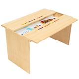 Mesa de Atividades com Porta Lápis Grande Cookie Branco Pinus - FS Design