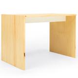 Mesa de Atividades com Porta Lápis Pequeno Cookie Branco Pinus - FS Design
