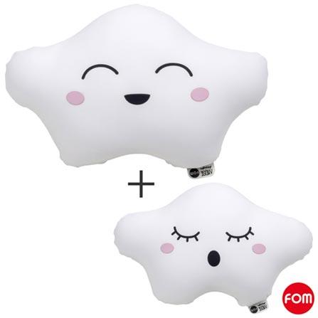 Almofada Nuvem Didi Branca - Fom + Almofada Nuvem Lulu Branca - Fom, 1