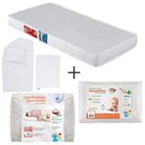 Colchao Baby Light Ortobom + Capa Protetora Fibrasca + Travesseiro Infantil Fibrasca + Jg de Lencois Tribeca Enxovais