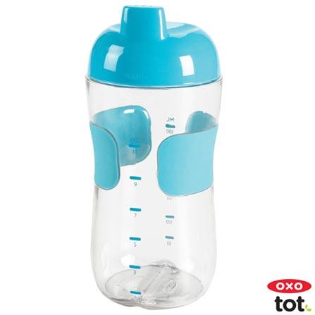 Copo Anti-Vazamento Tot 330 ml Azul - Oxo Tot, Azul, Plástico, 0,33 Litros, Não, 12 meses