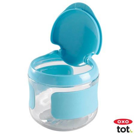 Pote para Lanche com Tampa Flip Azul - Oxo Tot, Azul, Plástico, 1, Não, 12 meses