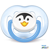 Chupeta com Capa Free Flow Pinguim Azul - SCF183/14 - Philips Avent