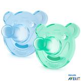 Conjunto de Chupetas Philips Avent em Silicone  Soothie Azul e Verde