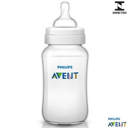 Mamadeira Classic+ 330 ml - Philips Avent, Não se aplica, Polipropileno, 0,33 Litros, 03 meses