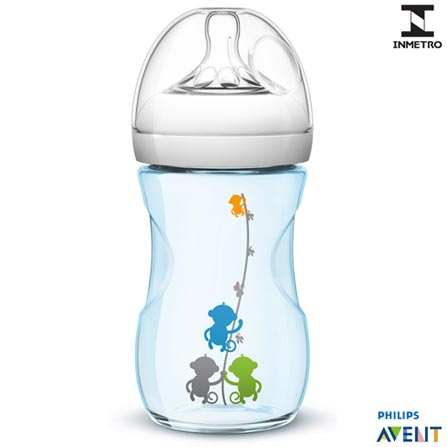 Mamadeira Pétala 260 ml Azul - Philips Avent, Azul, Polipropileno, 0,26 Litros, 03 meses