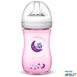 Conjunto de Mamadeiras Pétala Corujas 260 ml com Bico em Silicone Rosa 03 Peças - Philips Avent