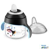 Copo Pinguim 200 ml Preto com Bico em Silicone e Alça - Philips Avent