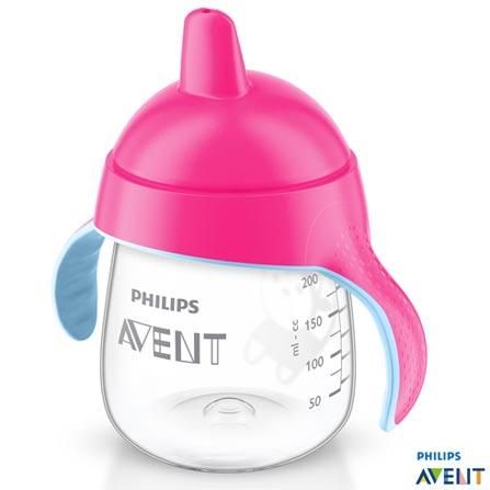 Copo com 260 ml Rosa Pinguim SCF75307 - Philips Avent, Rosa, Polipropileno, 0,26 Litros, Não especificado, 03 meses