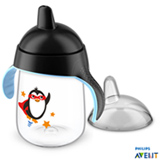Copo com Bico 340 ml Preto Pinguim - Philips Avent