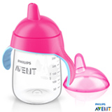 Copo com Bico 340 ml Rosa Pinguim - Philips Avent