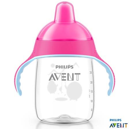 Copo com Bico 340 ml Rosa Pinguim - Philips Avent, Rosa, Polipropileno, 0,34 Litros, Não, 03 meses