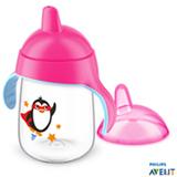 Copo com Bico 340 ml Rosa Pinguim - Philips Avent