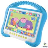 DVD Player Kids Tectoy Peppa Pig K-3600 Colorido com Tela 7', Entrada USB + DVD Poças de Lama