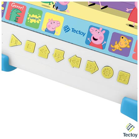 DVD Player Kids Tectoy Peppa Pig K-3600 Colorido com Tela 7