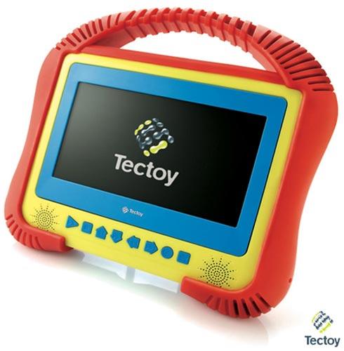"""DVD Portátil Tectoy Kids com Tela de 7"""" e Acabamento Emborrachado - K-3001, Bivolt, Bivolt, Vermelho e Amarelo, 03 meses"""