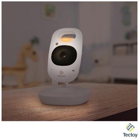 Babá Eletrônica Tec Toy com Câmera e Alcance de 150 Metros VBT-2400, Bivolt, Bivolt, Branco, Sim, 150 metros, 12 meses