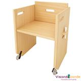 Cadeira Infantil Pinus Branco - Viscondesconde