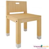 Cadeira Infantil Toca Branco e Pinus - Viscondesconde