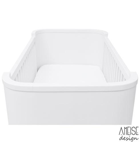 Berco Mini Cama 50's Branco - Ameise, Branco, Madeira, Tinta, 50 kg, Não, 12 meses