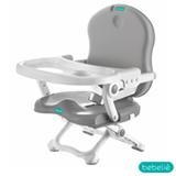 Cadeira de Alimentação Branco e Cinza - Bebeliê