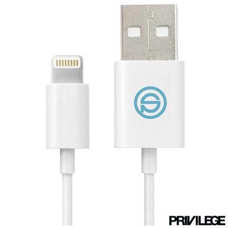 Cabo Lightning Premium para iPhone, iPad e iPod Branco - Privilege - PRIV101, Branco, Cabos e Adaptadores, 06 meses