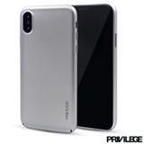Capa Protetora para iPhone X Slim Finito em TPU Cinza - Privilege - PRIVCFIPXSIL