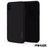 Capa Protetora para iPhone X  Slim Finito  em TPU Preta - Privilege - PRIVCFIPXBLK