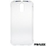 Capa para Moto G4 em TPU Transparente - Privilege - PRIVG4CLR