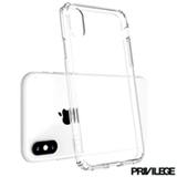 Capa Protetora para iPhone X em Policarbonato Flexível Transparente - Privilege - PRIVPELIIPXWHT