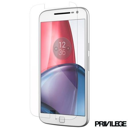 Película Protetora Privilege para Moto G4 de Vidro Transparente - PRIVPG4CLR, Não se aplica, Películas, Vidro, 06 meses