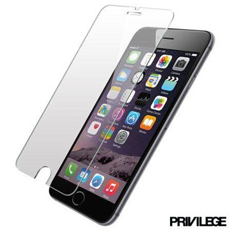 Película Protetora para iPhone 6 Plus de Vidro Transparente - PRIVPIP6PCLR, Não se aplica, 06 meses