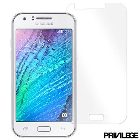 Película Protetora para Galaxy J7 de Vidro Transparente - Privilege - PRIVPJ7, Não se aplica, Películas, Vidro, 06 meses