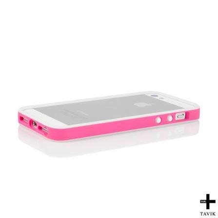 Bumper Outer para iPhone 5 e 5s Edge Branco e Rosa - Tavik - IPH039PNKWH, Branco e Rosa, Capas e Protetores, 12 meses