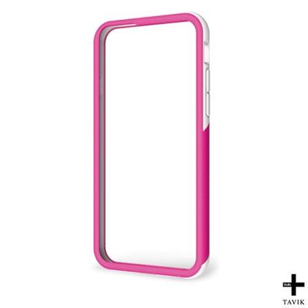 Capa para iPhone 6 Outer Edge Branca e Rosa Tavik - TVK-IPH-064-WHT/MGNT, Branco e Rosa, Capas e Protetores, 12 meses