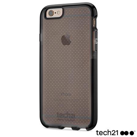 Capa para iPhone 6 e 6s Tech 21 Evo Mesh Sport em FlexShock Preta Fumê - T21-5058, Preto, Capas e Protetores, 12 meses