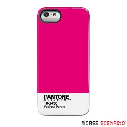 Capa Case para iPhone 5 Fuchsia Purple Pink - Scenario - PA-IPH5-FP, Pink, Capas e Protetores, 12 meses