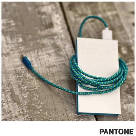 Cabo Lightning Fabric 2m Azul/Verde Pantone - PACAB2LF01, Azul