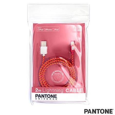 Cabo Lightning Fabric 2m Rosa/Amarelo Pantone - PACAB2LF02, Rosa