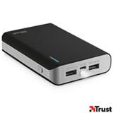 Carregador Portatil 8800 mAh com 02 Conexoes USB Preto - Trust - TR-20070I