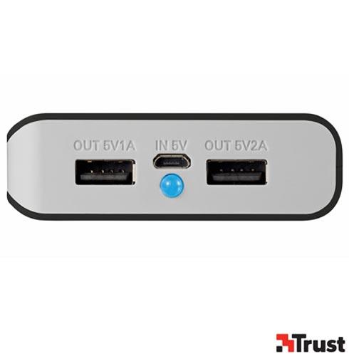 iPad Air 2 Dourado 9.7, 4G e Wi-Fi, 16 GB + Capa Smart Cover Apple - MF056BZ + Carregador Portatil - Trust - TR-20070I, 0