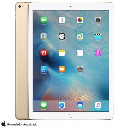 "iPad Pro Gold com 12,9"", Wi-Fi, iOS, Processador A9X e 128 GB + Microsoft Office 365 Personal com 01 ano, 0"