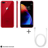 iPhone 8 Plus RED Special Edition, 5,5, 4G, 64 GB e 12 MP - MRT92BZ/A + Cabo Lightning USB Apple  MD818BZ/A