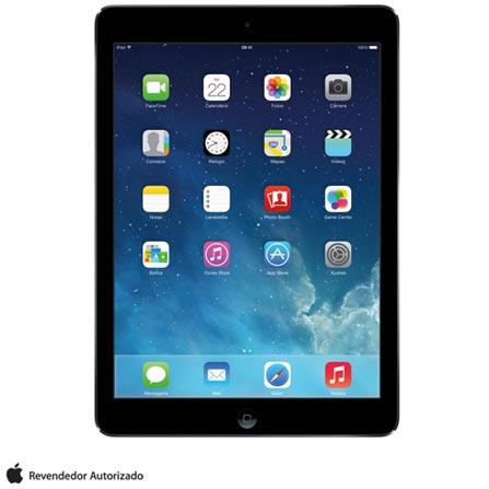 iPad Air Space Gray com 9,7, Wi-Fi, iOS, Processador A7, 32 GB, Bivolt, Bivolt, Cinza, 0000009.70, 000032, 1, N, APPLE, 003412, A7, iOS, 0000009.70, Sim, 5.0 MP, 32 GB, Wi-Fi, 12 meses, Sim, Sim, A7, Não, iOS, Até 10'', 9.7'', LED Touchscreen, Não