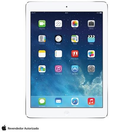 iPad Air Prata com 9,7, Wi-Fi, iOS, Processador A7, 16 GB, Bivolt, Bivolt, Prata, 0000009.70, 000016, 1, N, APPLE, 003412, A7, iOS, 0000009.70, Sim, 5.0 MP, 16 GB, Wi-Fi, 12 meses, Sim, Sim, A7, Não, iOS, Até 10'', 9.7'', LED Touchscreen, Não
